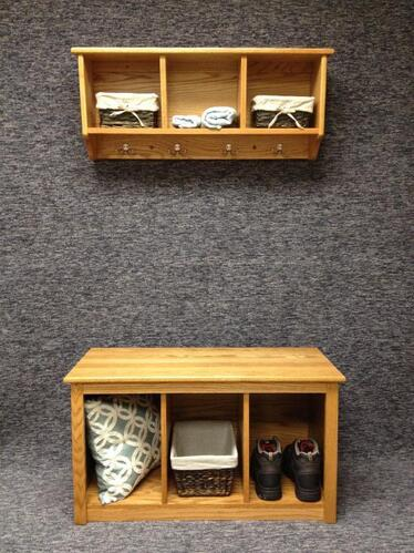 DeWeerd's cubby shelf and cubby bench-available with or without baskets-other stain colors available