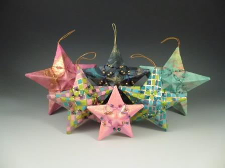 Miller's 3D Paper Star Ornaments Group of Six