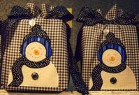 Cunningham's Quilted Tissue Box Covers with Snowmen