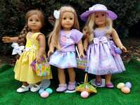 "Ehrenfeld's 18"" Doll Clothing, Easter Best Outfits"
