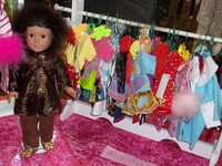 "Ehrenfeld's 18"" Doll Clothing, Variety of Outfits on Hangers"