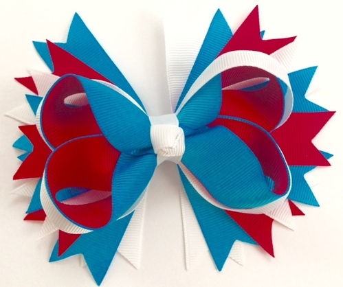 Feldkamp's Red White and Blue Grosgrain Bow