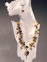 Potts' Feldspar and Jade Triple Necklace and Earrings