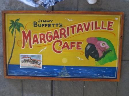 Gerathy's Handpainted Wood Margaritaville Cafe Sign