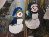 Gusmano's Stained Glass Snowman Suncatchers