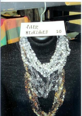 Harrington's Silver Fiber Necklace