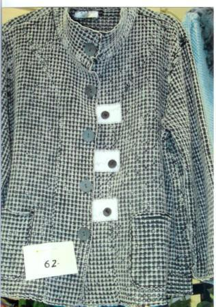 Harrington's Black and White Check Embellished Coat