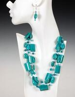 Potts' HOWLITE TRIPLE Necklace and Earrings