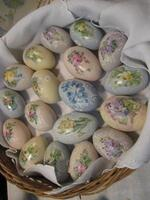 Meyer Handpainted China Eggs with Spring Florals