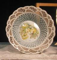 Meyer Handpainted China Basket with Center Floral