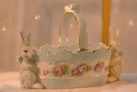 Meyer Hand-painted China Basket with Bunny