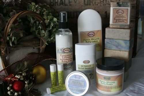 Hoehn handmade lip balm, lotions and soaps.