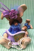 Renner Clay Bunny Reading Book