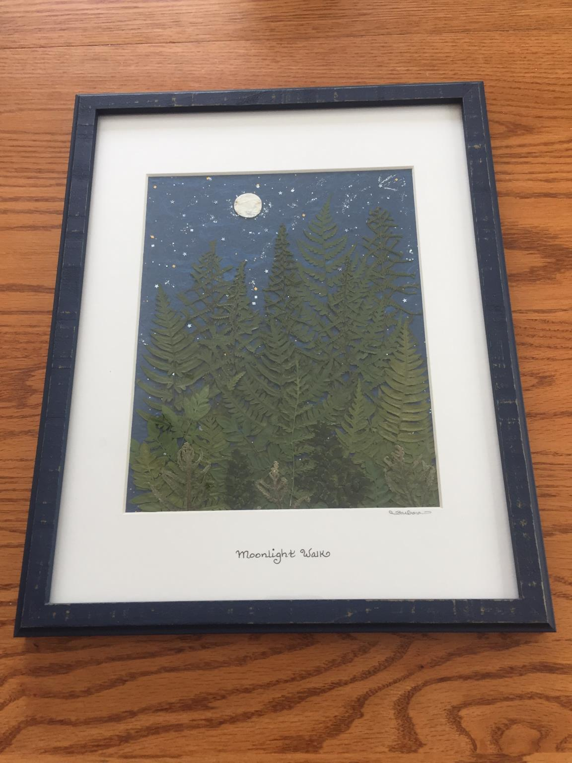 Musolf/Saalfeld, framed pressed fern and leaf picture.