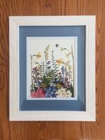 Musolf/Saalfeld, framed pressed flower and herb botanical picture.