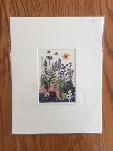 Musolf/Saalfeld, matted and unframed pressed flower, fern and leaf picture.