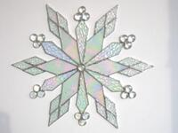 Renee Urban's large size, iridized, stained glass snowflake.