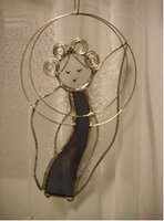 Renee Urban's whimsical stained glass angel.