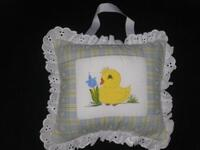 Williamson's Hand painted pillow music box with duck
