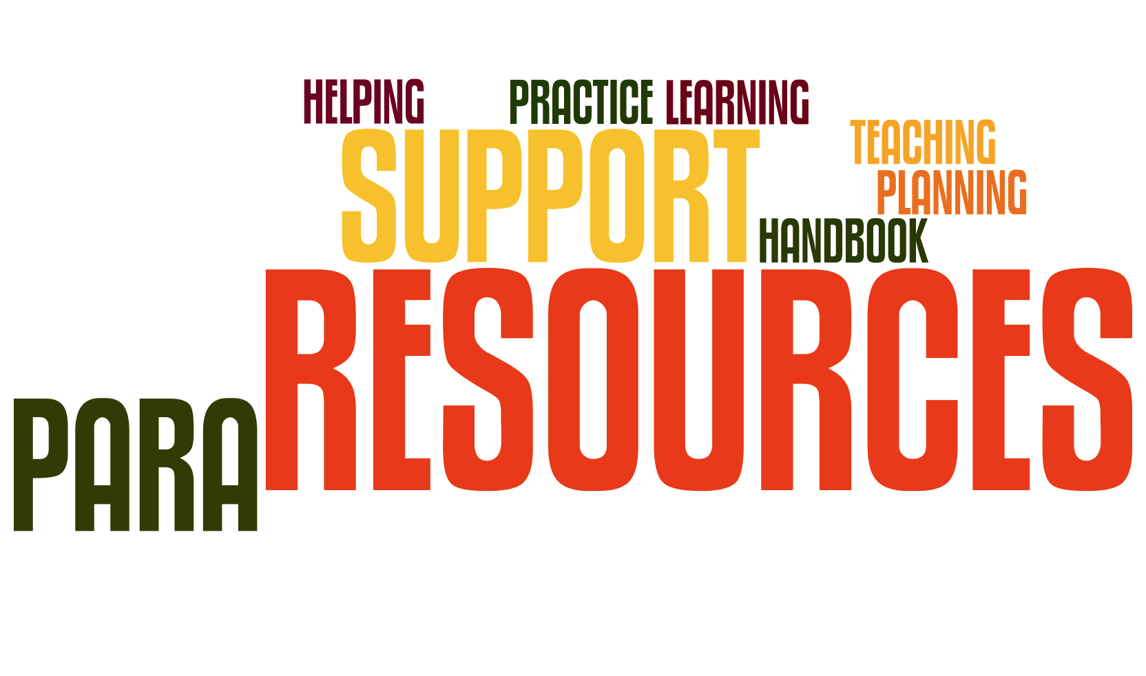 A wordle for Para educator resources