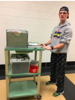 Saline High School Special Ed student working